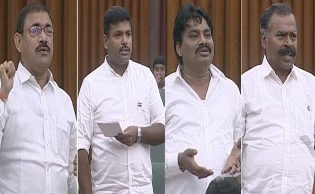 YSRCP MLAS Fires On TDP In AP Special Assembly Session - Sakshi