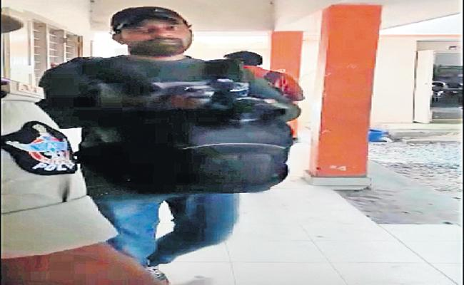 Yellow Media Records video while changing women constable clothes - Sakshi