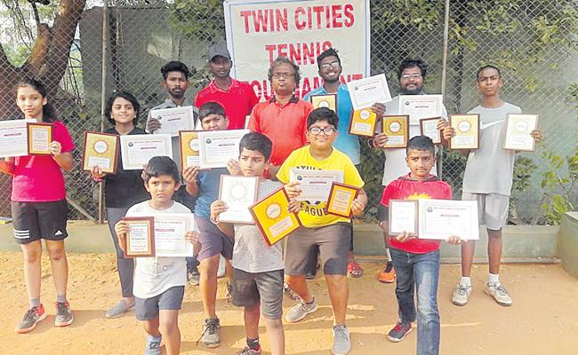 Aditya Won Singles And Doubles Titles Of Twin Cities Tennis Tournament - Sakshi