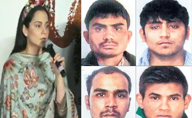 Kangana Ranaut On Indira Jaising Forgive Nirbhaya Convicts Statement - Sakshi