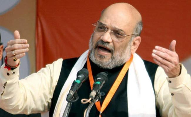 Amit Shah to monitor disposal of assets of enemies  - Sakshi