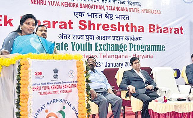 Tamilisai Soundararajan Speaks On Occasion of Subhash Chandra Bose Jayanti - Sakshi