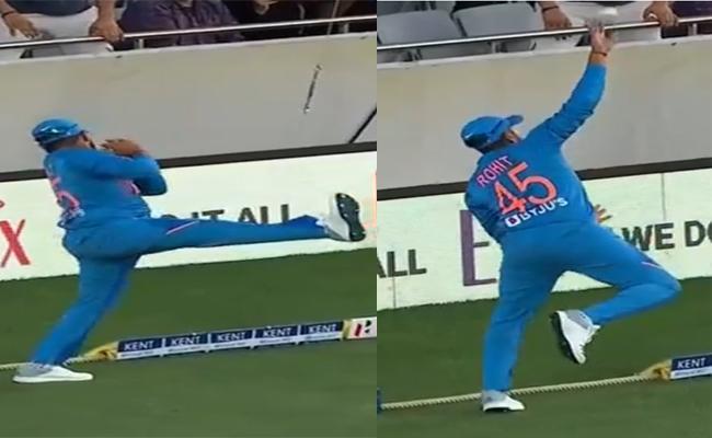 IND Vs NZ: Rohit Sharma Takes Superb Catch - Sakshi