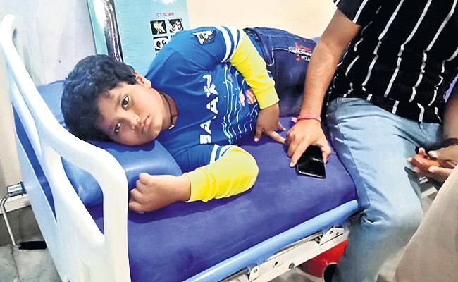 Teacher Beat Student in Private School Hyderabad - Sakshi