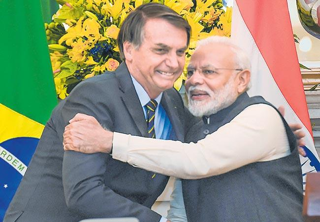 India Brazil ink 15 pacts in trade and investments - Sakshi