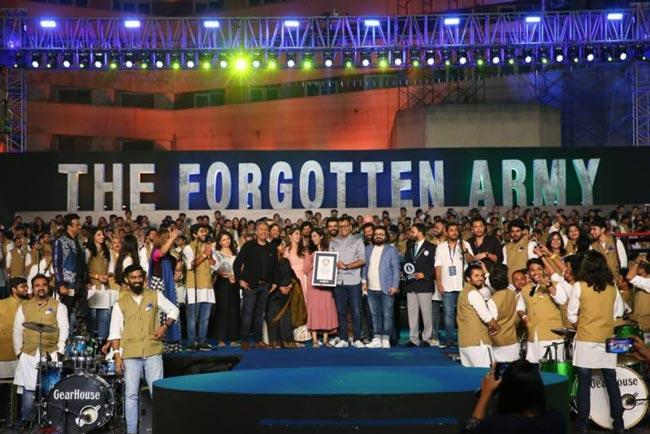 Kabir Khan is The Forgotten Army makes Guinness World Record - Sakshi