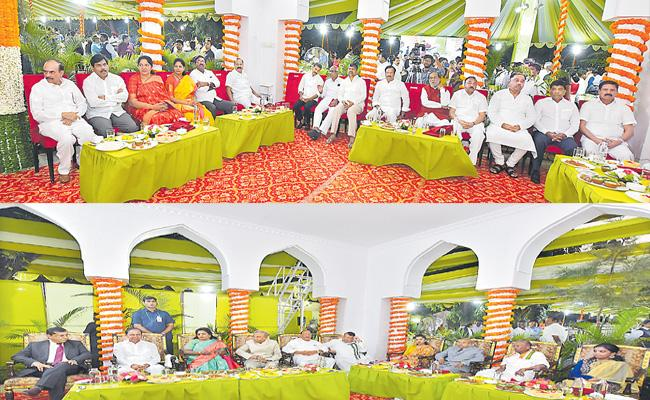 Tamilisai Soundararajan Couple Held Host At Home program At Raj Bhavan - Sakshi