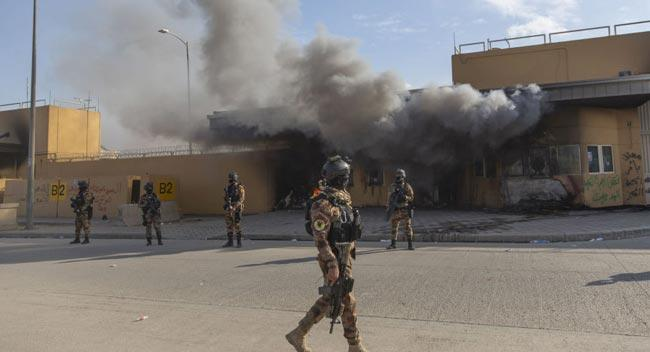 US embassy in Baghdad hit by rocket attack - Sakshi
