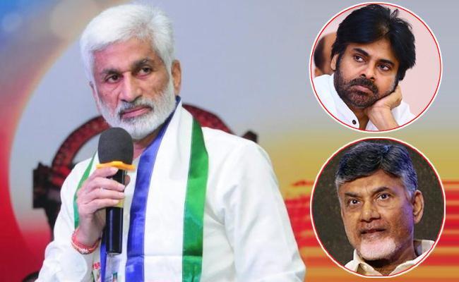 Vijaya Sai Reddy Slams Chandrababu Naidu And Pawan Kalyan - Sakshi