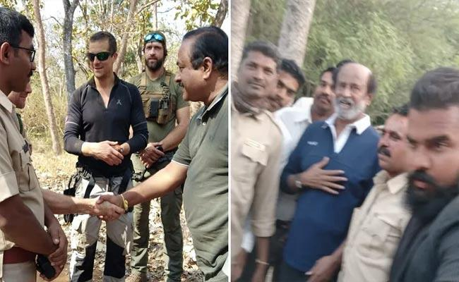 Rajinikanth Reaction On Man vs Wild Shooting - Sakshi