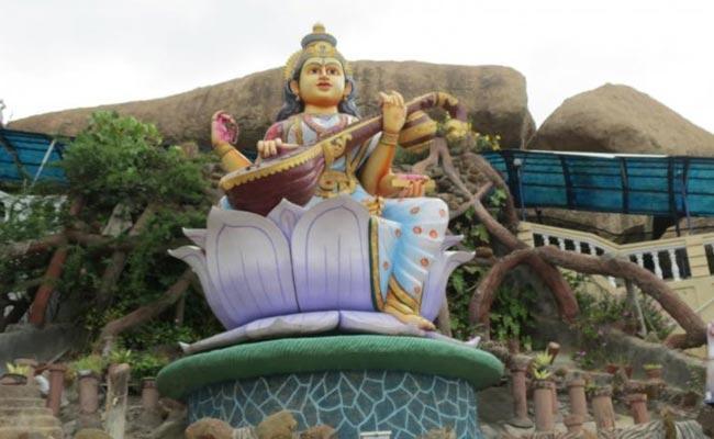 Sarswati Devi Vasantha Panchami Celabrations In Medak - Sakshi