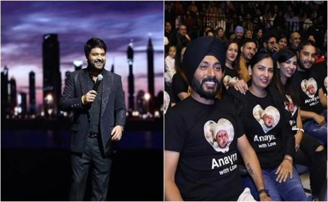 Kapil Sharma Thrilled Fans Wearing Tshirts With Anayras Photo - Sakshi