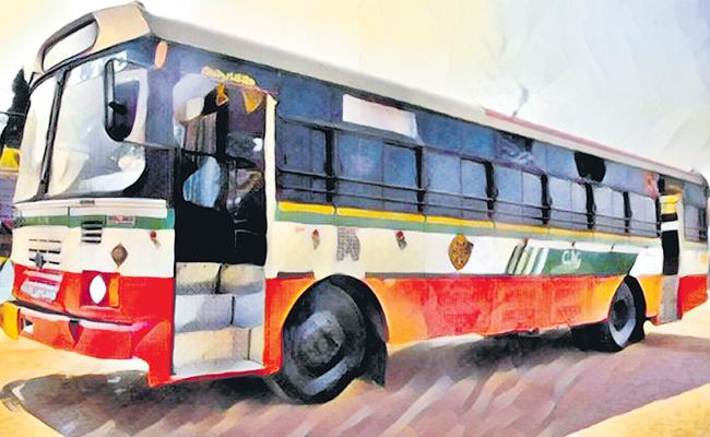 Stopped TSRTC Bus Services To 250 Villages - Sakshi