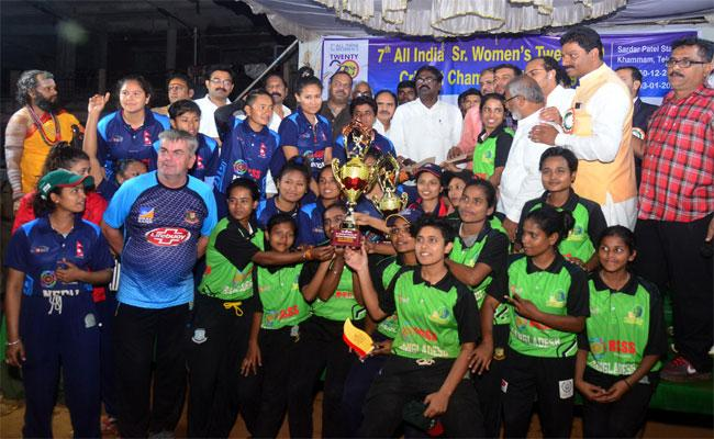 Bangladesh And Nepal Won All India Women Cricket Tournament In Khammam - Sakshi