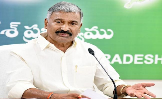 Minister Peddireddy RamachandraReddy  Fires on chandrababu - Sakshi