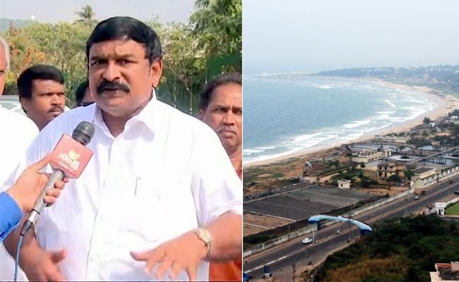 Vishnukumar Raju Supports Capital in Visakhapatnam - Sakshi