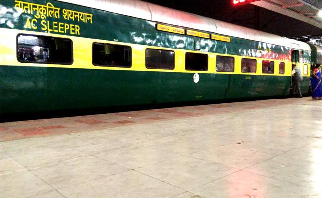 Blanket Charges in Garib Rath Train Visakhapatnam - Sakshi