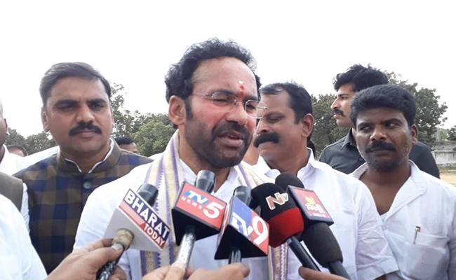 Central Minister Kishan Reddy Response On AP Capital - Sakshi