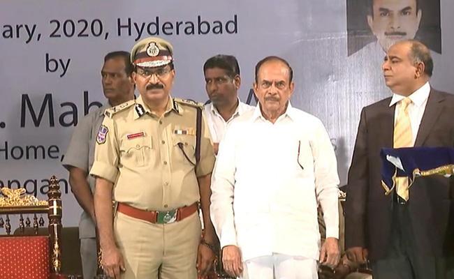 Police Personnel Received Medals In Ravindra Bharathi - Sakshi