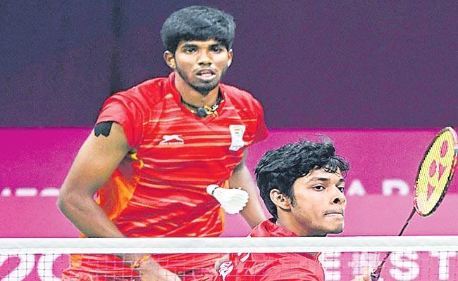 Satwiksairaj Rankireddy And Chirag Shetty Lose In First Round - Sakshi