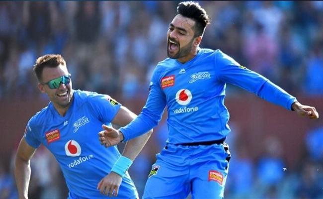 BBL: Rashid Khans 3rd T20 Hat Trick Hazlewood Hat Trick Boundaries - Sakshi