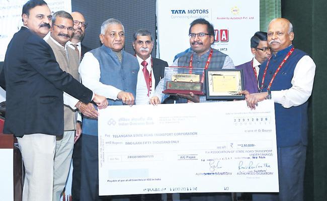 Eco Friendly Award For TSRTC - Sakshi