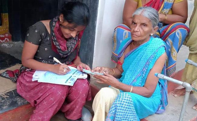 AP Government Started Door Delivery Pension Scheme Through All Over State  - Sakshi