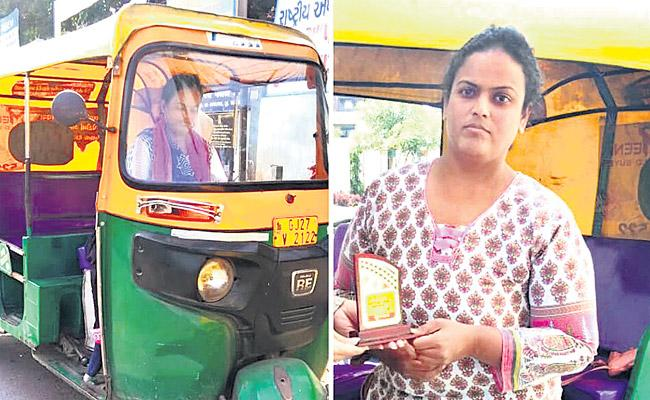 Special Story About Lady Auto Driver Ankita Shah - Sakshi