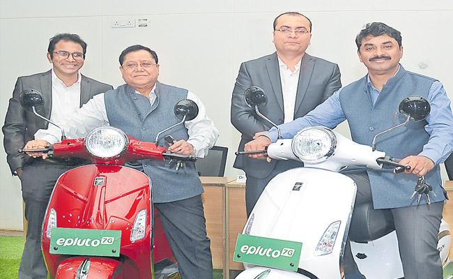 E Pluto 7G Scooter Launched In Hyderabad - Sakshi