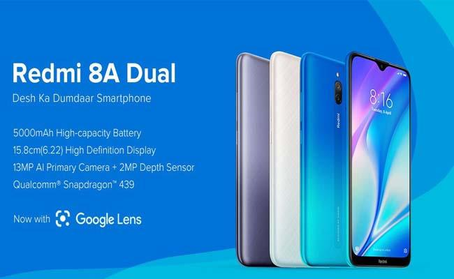 Redmi 8A Dual, Redmi Power Bank launched in India  - Sakshi