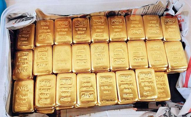 Taskforce Police Catches Gold Smuglers In Gannavaram Airport - Sakshi