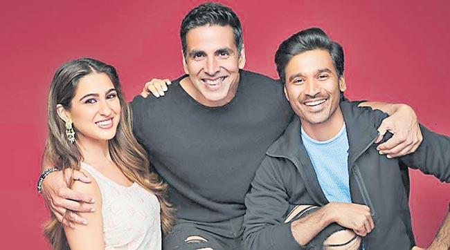 Sara Ali Khan, Akshay Kumar and Dhanush to shoot Atrangi Re - Sakshi