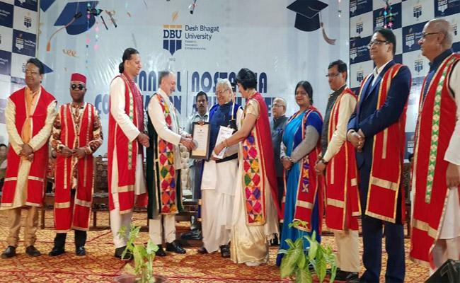 Doctorate Awarded To AP Governor Biswabhusan Harichandan - Sakshi