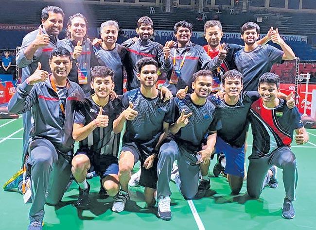 India beats Thailand to reach Badminton Asia Team Championships semis - Sakshi