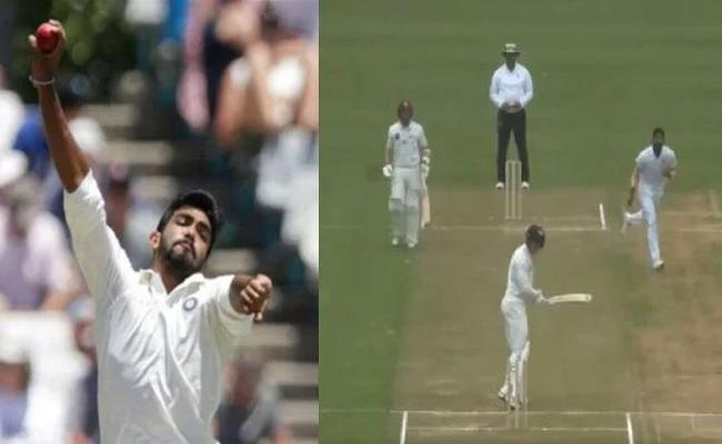Jasprit Bumrah Bowls Absolute Ripper To Dismiss New Zeland Batsman - Sakshi