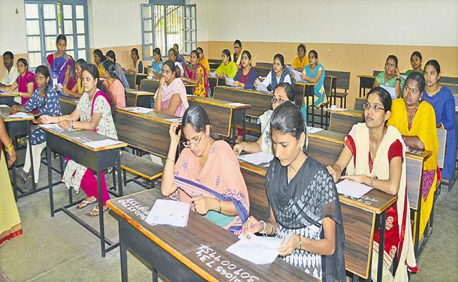Written test in first week of April for Village and Ward Secretariat Jobs - Sakshi