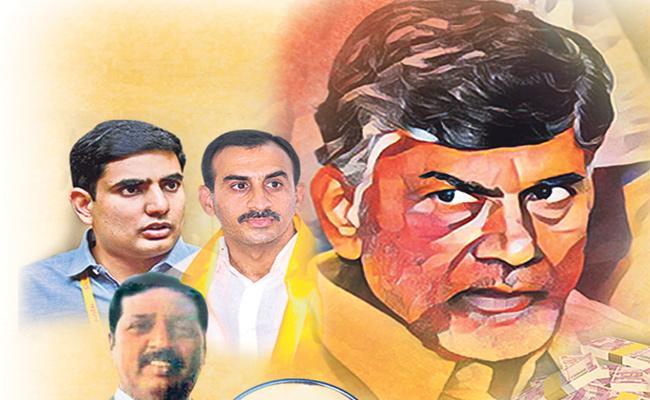 Income Tax Raid Found Only Small Part Robbery of Chandrababu Naidu - Sakshi