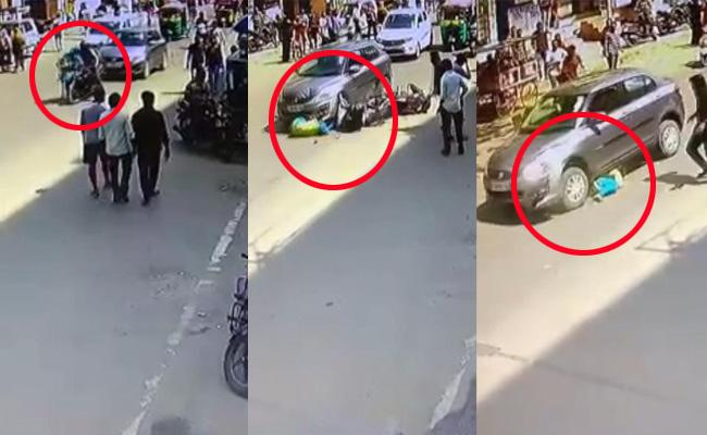 Road Accident In SR Nagar - Sakshi