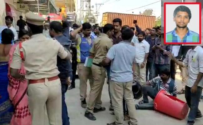 Inter Student Sathish Suspicious Death At Vanasthalipuram Dmart - Sakshi