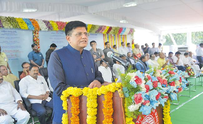 Piyush Goyal Commenst on Charlapally Railway Terminal construction - Sakshi