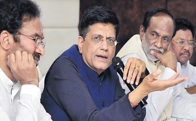 Piyush Goyal Comments On KCR And Asaduddin Owaisi - Sakshi