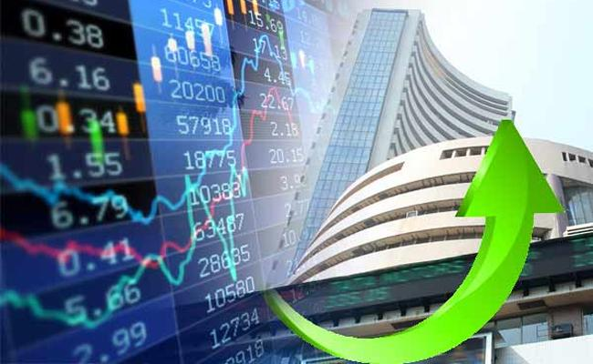 Markets  rallys  nearly 450 points - Sakshi