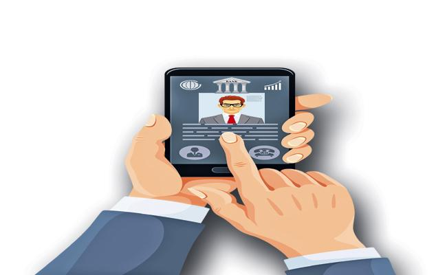 Mobile Banking Only With Face and Iris hereafter - Sakshi