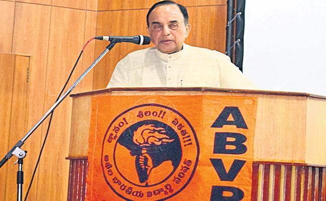 Subramanian Swamy Visit HCU in Hyderabad - Sakshi