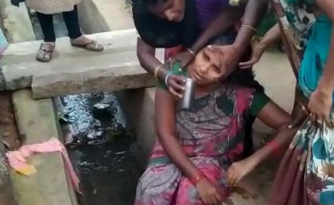 Man Attacked Wife Threw Her In Drainage Nellore District - Sakshi