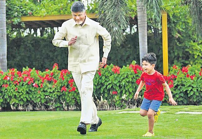 Chandrababu Naidu Gifted 26,640 Heritage Shares To His Grandson Devansh - Sakshi