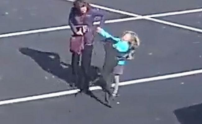Viral Video: Bull Dog Attack Girl In Colorado Church - Sakshi