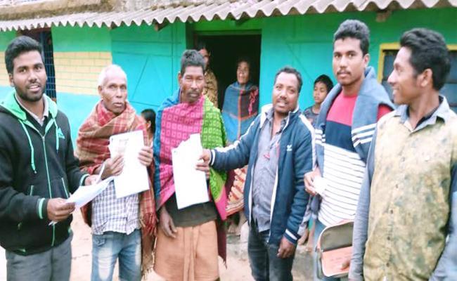 Andhra Pradesh Pension Distributing in Odisha Kotiya Village - Sakshi