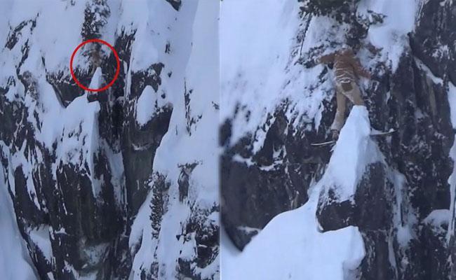 Snowboarder Got Stuck On A Snowy Cliff In Canada - Sakshi