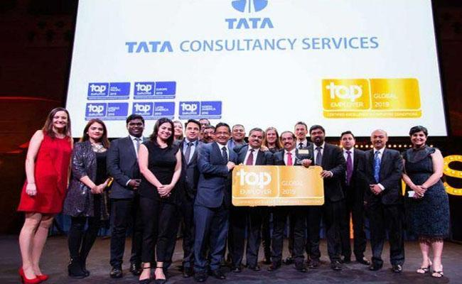 TCS only Indian firm in top 20 companies to work for in US  - Sakshi